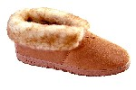 Men's Sheepskin Moccasins - Ankle-Hi Slipper-Shoe-Booties - sierra indoor/outdoor sole, golden tan sheepskin; sizes: 7-13 &amp; 14X (full sizes only)